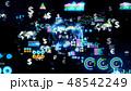 フィンテック サイバー デジタルのイラスト 48542249
