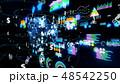 フィンテック オンライン サイバーのイラスト 48542250
