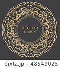 バロック様式 柄 模様のイラスト 48549025