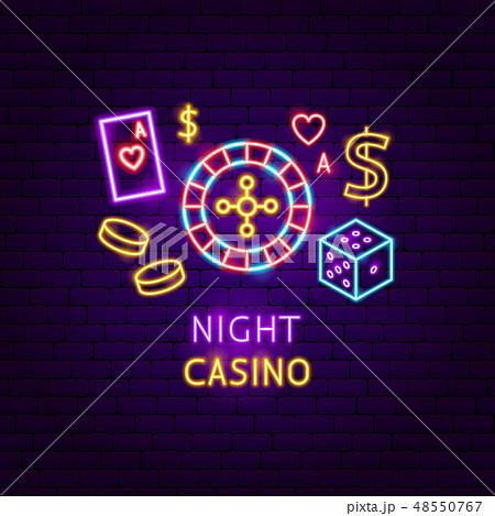 Night Casino Neon Label 48550767