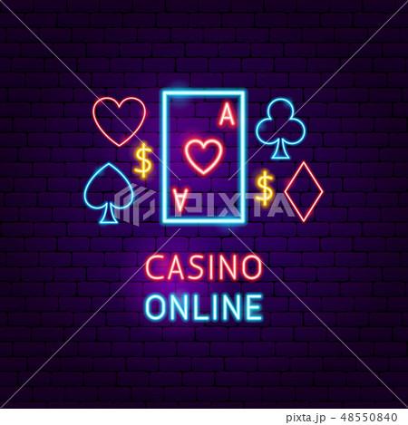 Casino Online Neon Label 48550840