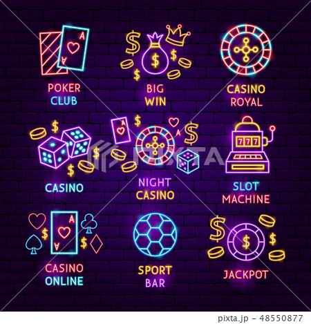 Casino Neon Label Set 48550877