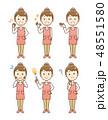 主婦 女性 エプロンのイラスト 48551580