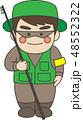 釣り人 釣り 釣り竿のイラスト 48552322