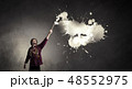 人 刷毛 磨くの写真 48552975