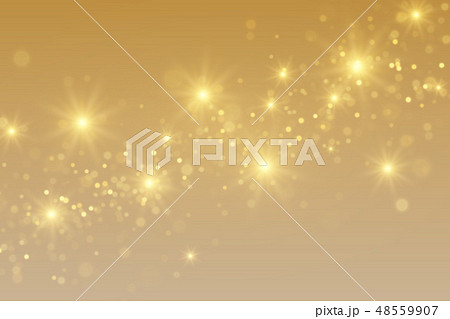 Golden magical background with sparkling lights 48559907