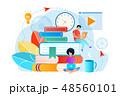 ブック 本 教育のイラスト 48560101