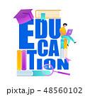 ブック 本 教育のイラスト 48560102