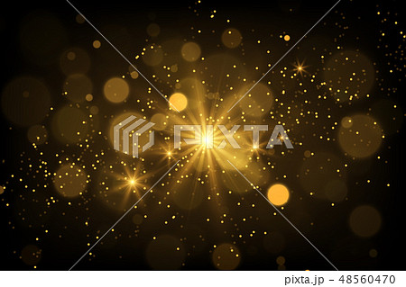 Shiny particles and sparkles magical background 48560470