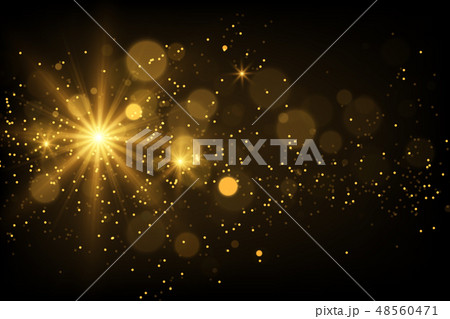 Shiny particles and sparkles magical background 48560471