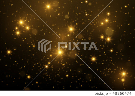 Shiny particles and sparkles magical background 48560474