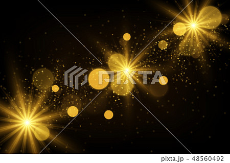 Shiny particles and sparkles magical background 48560492