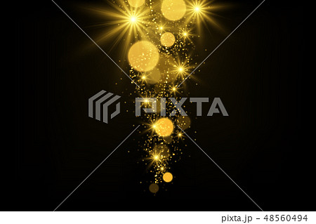 Shiny particles and sparkles magical background 48560494