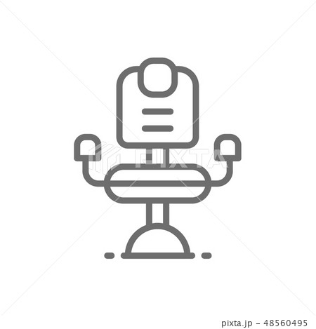 Barber chair, hairdresser line icon. Isolated on white background 48560495