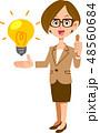 ビジネスウーマン ビジネス アイデアのイラスト 48560684