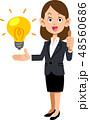 ビジネスウーマン ビジネス アイデアのイラスト 48560686