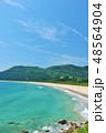 宮崎県 日南の青空と青い海 48564904
