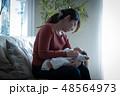 女性 男性 赤ちゃんの写真 48564973
