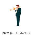 音楽 ミュージカル トランペットのイラスト 48567409