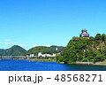 風景 犬山城 城の写真 48568271