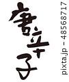 唐辛子 筆文字 48568717