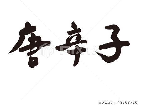唐辛子 筆文字 48568720
