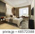 luxury bedroom suite in hotel with tv 48572388