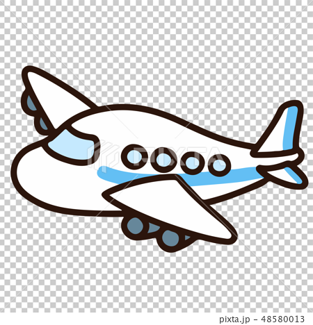 simple airplane illustration with main line - stock illustration [48580013]  - pixta  pixta