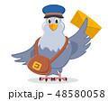 鳩 ハト 郵便配達夫のイラスト 48580058
