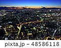 横浜市街の夜景と富士山 48586118
