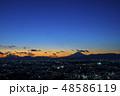 青空の夕景、富士山と横浜市街の夜景 48586119
