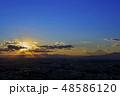 天使のはしご(薄明光線)と富士山 48586120