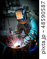 industrial worker welding 48590587