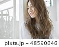 女性 ポートレート 女の子の写真 48590646