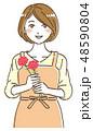 母の日 カーネーション ベクターのイラスト 48590804