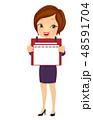 女子 ビジネス 日々のイラスト 48591704