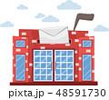 ポスト 郵便 配置のイラスト 48591730