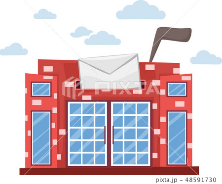 Post Office Building Abstract Illustration 48591730