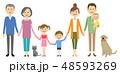 家族 三世代家族 猫のイラスト 48593269