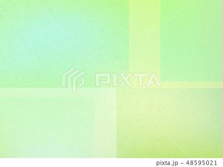白と緑色の重ねた和紙背景素材テクスチャ 48595021
