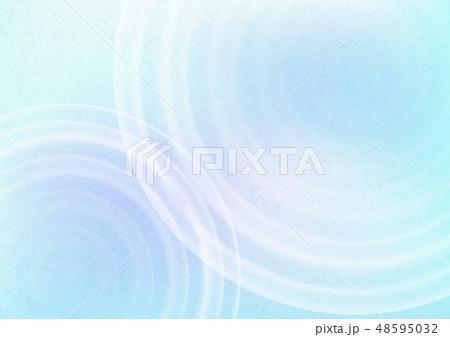 青色の和紙と水の波紋背景素材テクスチャ 48595032