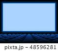 シネマ 映画館 ムービーのイラスト 48596281