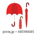 折りたたみ 折りたたみ傘 傘のイラスト 48596685