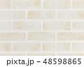 淡い色のレンガ壁(ボカシ) 48598865