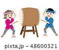 太鼓 和太鼓 大太鼓のイラスト 48600321