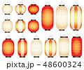 提灯 セット 明かりのイラスト 48600324