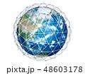 地球 通信 ネットワークのイラスト 48603178