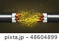 ケーブル 配線 針金のイラスト 48604899