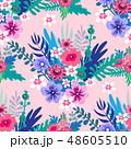 フラワー 花 花柄のイラスト 48605510