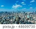 (東京都-都市風景)展望デッキから望む恵比寿から新宿方面への風景1 48609730